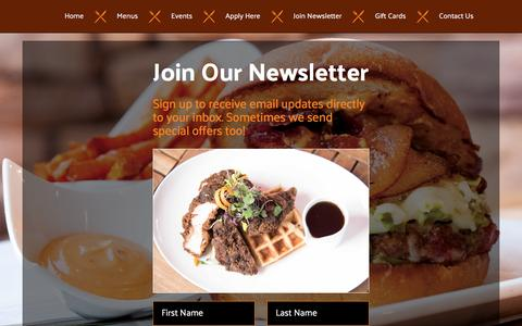 Screenshot of Signup Page dwbistro.com - Join Our Newsletter – DW Bistro Las Vegas - captured Jan. 23, 2017