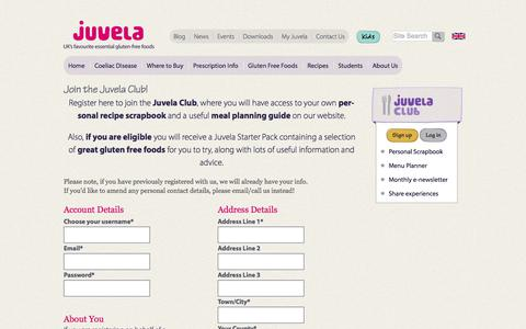 Screenshot of Signup Page juvela.co.uk - Join the Juvela Club! - Juvela - captured Sept. 20, 2018