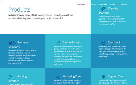 Screenshot of Home Page netagame.com - Netagame - captured Dec. 9, 2016