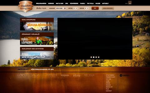 Screenshot of Home Page copperhill.se - Hotell Åre. Boende, spa och konferens i Åre   Copperhill Mountain Lodge, Åre - captured Oct. 8, 2014