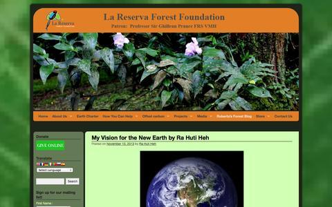 Screenshot of Blog lrff.org - Roberta's Forest Blog - La Reserva Forest Foundation - captured Oct. 1, 2014