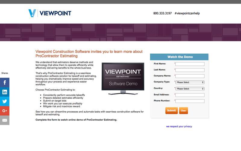 Viewpoint - ProContractor Estimating