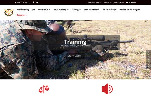 Screenshot of Home Page ntoa.org - NTOA | National Tactical Officers Association - captured Dec. 21, 2016