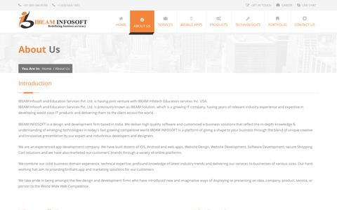 Screenshot of About Page ibeamsolution.com - Best Website development company in bhopal   best Website development company in indore   best Website development company in INDIA - captured July 20, 2016