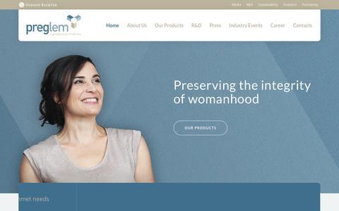 Screenshot of Home Page preglem.com - Home - PregLem.com - captured Jan. 26, 2016