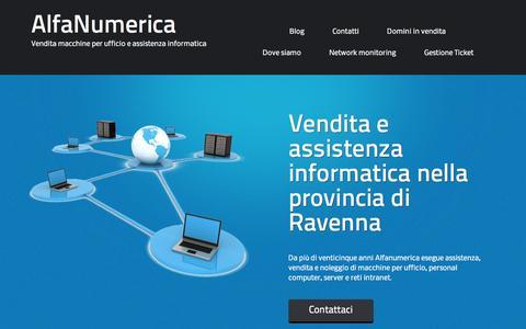 Screenshot of Home Page alfanumerica.com - Alfanumerica snc Assistenza Informatica Ravenna - captured Sept. 30, 2014