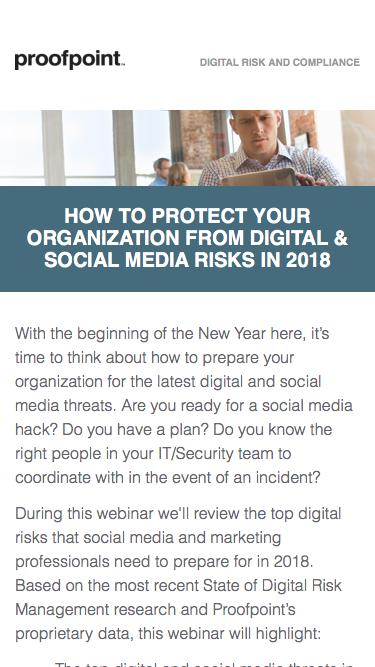 How to Protect Your Organization from Digital & Social Media Risks in 2018