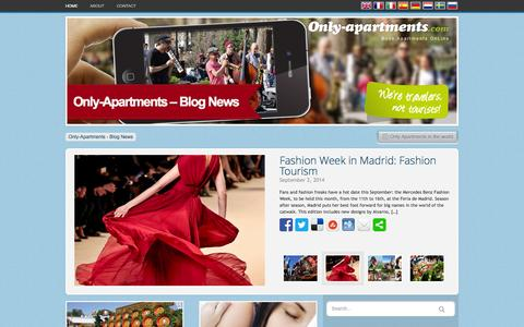 Screenshot of Press Page only-apartments.com - Travel Blog about Barcelona, Rome, Berlin, Paris, Madrid and many more cities - captured Sept. 12, 2014