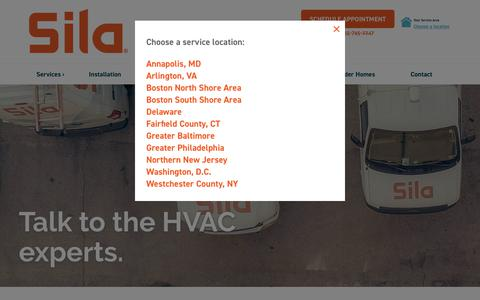 Screenshot of Contact Page sila.com - Contact - Sila Heating & Air Conditioning - captured Nov. 7, 2019