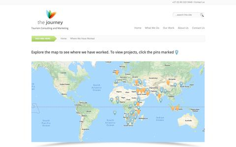 Screenshot of Maps & Directions Page thejourneytourism.com - Where We Have Worked | The Journey - captured Oct. 20, 2018
