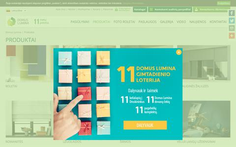 Screenshot of Products Page domuslumina.lt - Produkcija | Domus Lumina - captured Sept. 22, 2018