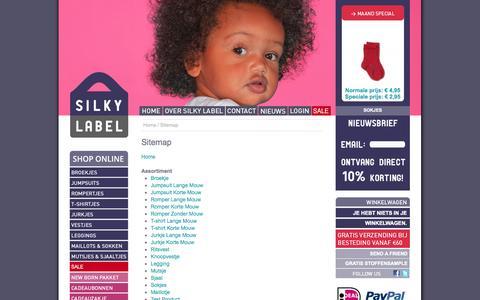 Screenshot of Site Map Page silkylabel.nl - Silky Label - Sitemap - captured Oct. 26, 2014