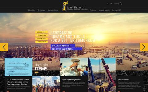 Screenshot of Home Page jondishapour.com - Jondi Shapour - captured Oct. 6, 2014