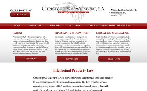 Screenshot of Home Page cwiplaw.com - Christopher & Weisberg, P.A. | Attorneys At Law - captured Oct. 2, 2014