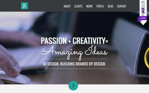 Screenshot of Home Page jkdesign.com - JK Design New Jersey (NJ) and New York (NY) - captured Dec. 27, 2015