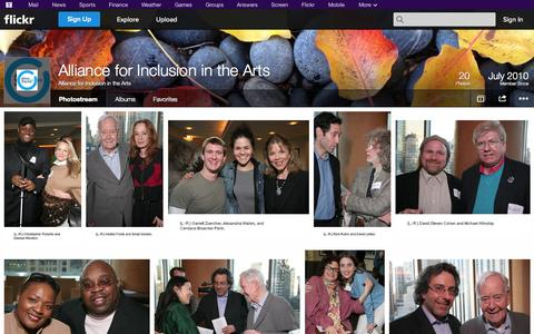 Screenshot of Flickr Page flickr.com - Flickr: Alliance for Inclusion in the Arts' Photostream - captured Oct. 23, 2014
