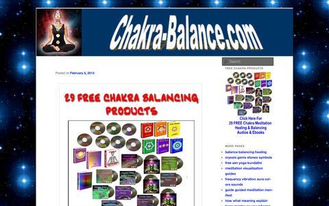 Screenshot of Home Page chakra-balance.com - Chakra Balance - captured Sept. 12, 2015