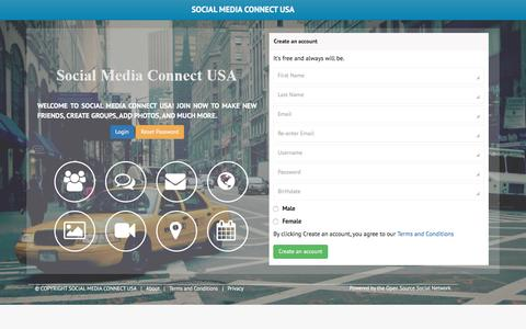 Screenshot of Home Page Site Map Page socialmediaconnect-usa.com - Welcome! : Social Media Connect USA - captured July 20, 2016
