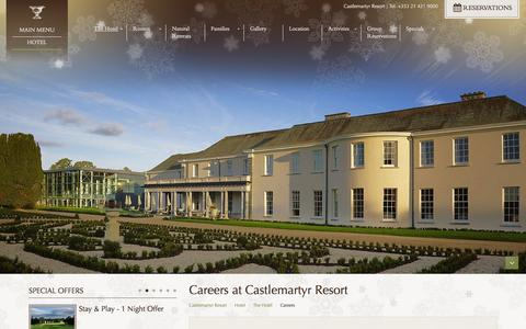Screenshot of Jobs Page castlemartyrresort.ie - Careers, Jobs & Employment Opportunities at Castlemartyr 5 Star Resort - captured Dec. 7, 2015