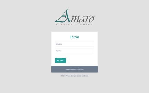 Screenshot of Login Page amaro.com.br - Amaro Contact Center do Brasil | Login - captured Nov. 20, 2016