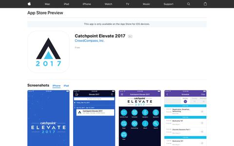 Catchpoint Elevate 2017 on the App Store