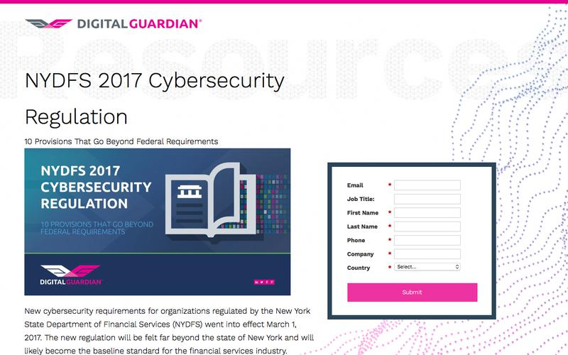 NYDFS 2017 Cybersecurity Regulation