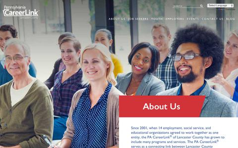 Screenshot of About Page jobs4lancaster.com - About Us | PA CareerLink® of Lancaster County - captured Nov. 9, 2018