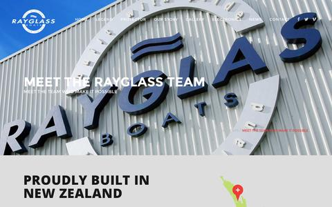 Screenshot of Team Page rayglass.co.nz - Meet all of our highly qualified team at Rayglass Boats - captured Nov. 29, 2016