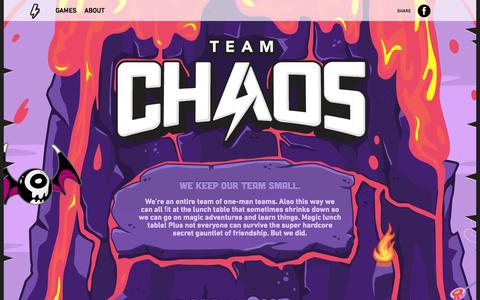 Screenshot of About Page teamchaos.com - Team Chaos | About Team Chaos - captured Oct. 7, 2014