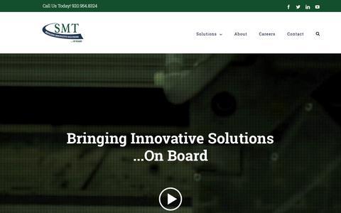 Screenshot of Home Page teamsmt.com - Home   SMT - captured Sept. 25, 2018