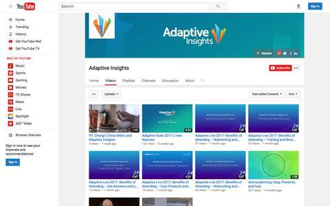 Adaptive Insights  - YouTube