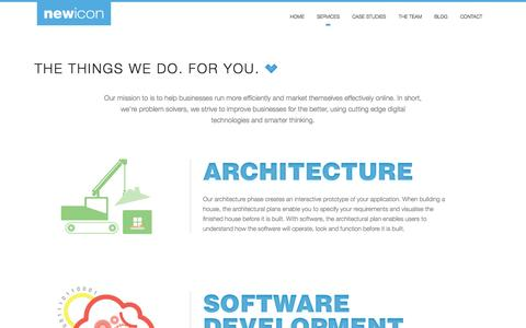Screenshot of Services Page newicon.net - Services - Newicon - captured Oct. 26, 2014