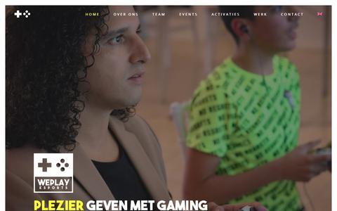 Screenshot of Home Page weplayesports.com - WePlay Esports - Offline en online game events en activaties - captured Nov. 3, 2018