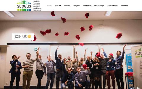 Screenshot of Home Page supeus.hr - SUPEUS - Studenti za budućnost - captured July 26, 2018