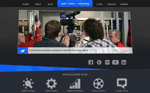 Screenshot of Home Page moraviamedia.cz - Moravia Media production - captured Oct. 8, 2014