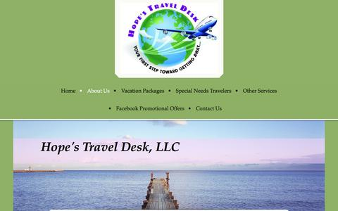 Screenshot of Team Page hopestraveldesk.com - Hope's Travel Desk, Your FIRST Step Toward Getting Away - Our Team - captured March 6, 2016
