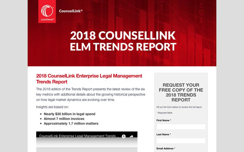 LexisNexis® CounselLink® Trends Report 2018