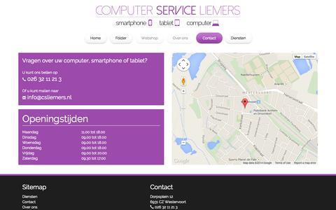 Screenshot of Contact Page csliemers.nl - CS Liemers - captured Sept. 26, 2014