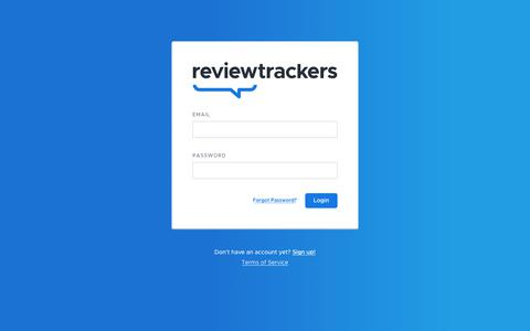Screenshot of Login Page reviewtrackers.com - ReviewTrackers - captured Dec. 6, 2019