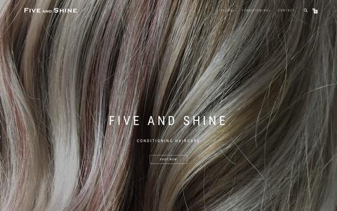 Screenshot of Maps & Directions Page fiveandshine.com - Five and Shine Shop - captured Aug. 15, 2018