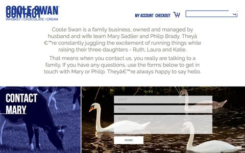 Screenshot of Contact Page cooleswan.com - Contact Us   Coole Swan® - captured Nov. 19, 2016