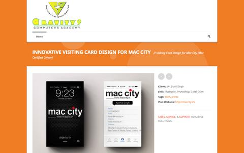 Screenshot of Testimonials Page gravity9india.com - Gravity9 Computers   » Innovative Visiting Card Design for Mac City - captured Oct. 3, 2014