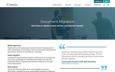 Document Migration (New) - BitTitan