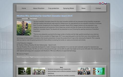 Screenshot of Press Page micothon.nl - Latest Greenhouse Crop protection NewsMicothon - captured Oct. 27, 2014