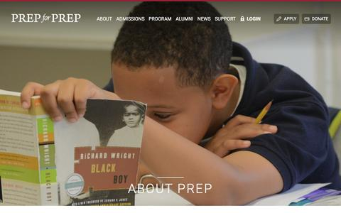 Screenshot of About Page prepforprep.org - Prep for Prep | About Prep - captured July 21, 2018