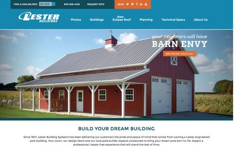 Pole Buildings - Metal & Steel Pole Barn Builder - Lester Buildings