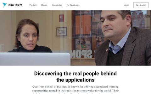 Screenshot of Case Studies Page kiratalent.com - Questrom School of Business - Kira Talent - captured March 29, 2018