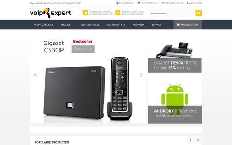 Screenshot of Home Page voip-expert.nl - VoIP Expert, zakelijke voip oplossingen - captured Sept. 30, 2014