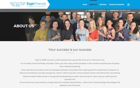 Screenshot of About Page eaglefinancial.com.au - About Us - Eagle Financial - captured Dec. 13, 2018