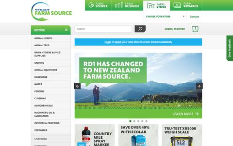 Screenshot of Home Page Privacy Page Contact Page Jobs Page Terms Page rd1.com - Dairy farm supplies, your one-stop-shop | NZ Farm Source - captured Oct. 7, 2014